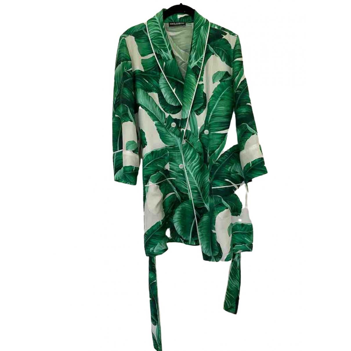 Dolce & Gabbana \N Jacke in  Gruen Seide