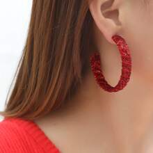 Christmas Cuff Hoop Earrings