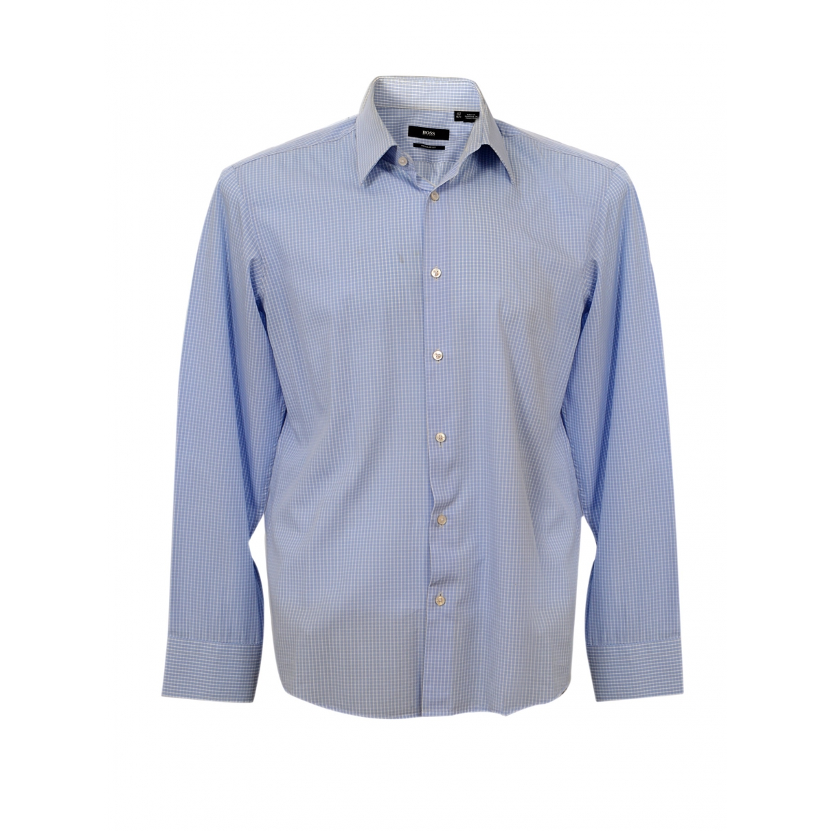 Boss \N Blue Cotton Shirts for Men 40 EU (tour de cou / collar)