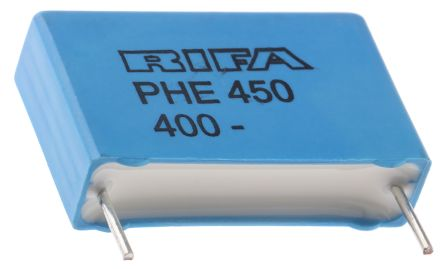 KEMET 220nF Polypropylene Capacitor PP 250 V ac, 400 V dc ±5% Tolerance Through Hole PHE450 Series (5)