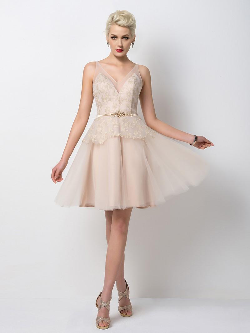 Ericdress Exceptional A-Line V-Neck Short Cocktail Dress