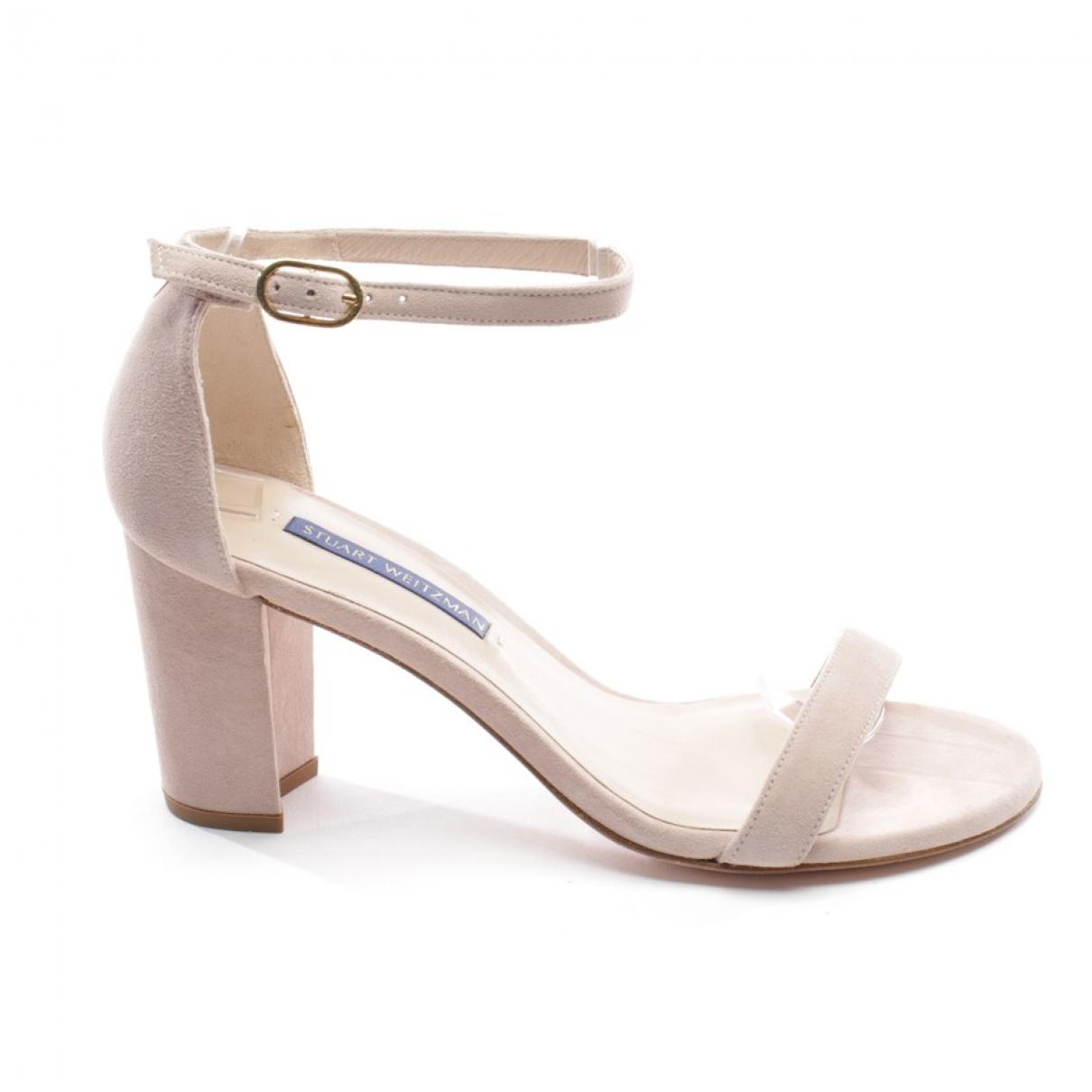 Stuart Weitzman \N Pink Suede Sandals for Women 37 EU