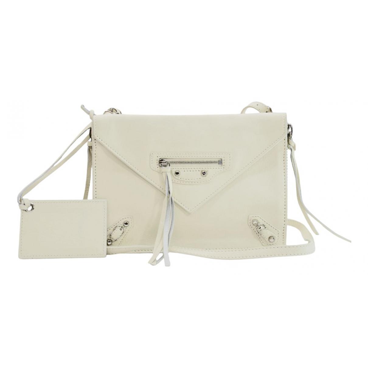 Balenciaga - Pochette   pour femme en cuir - blanc