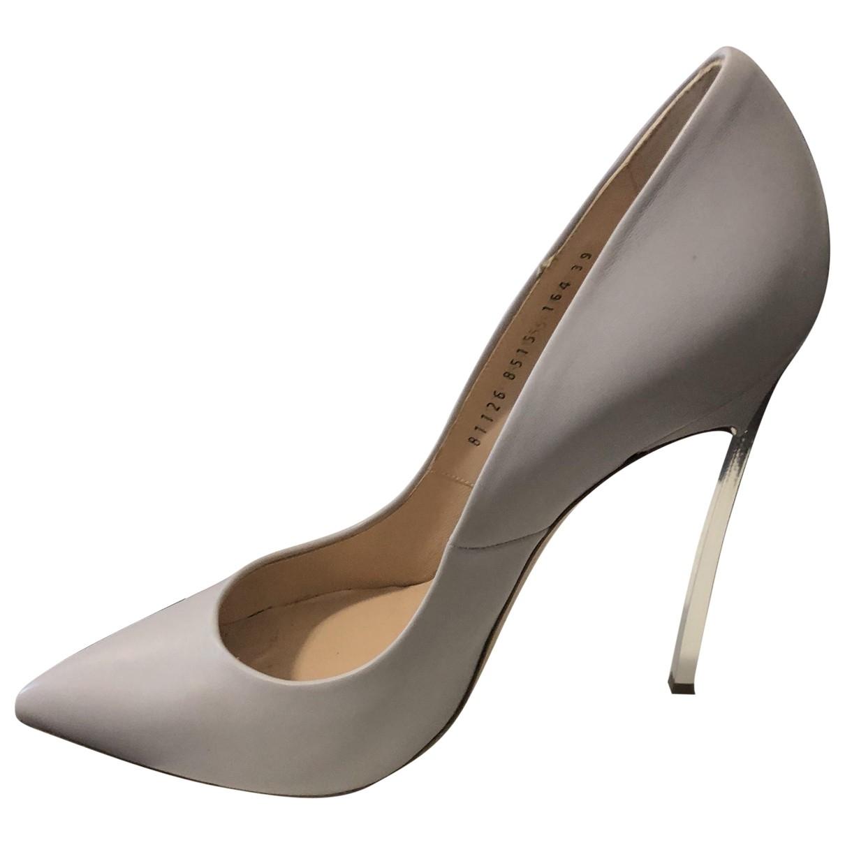 Casadei \N Grey Leather Heels for Women 39 EU