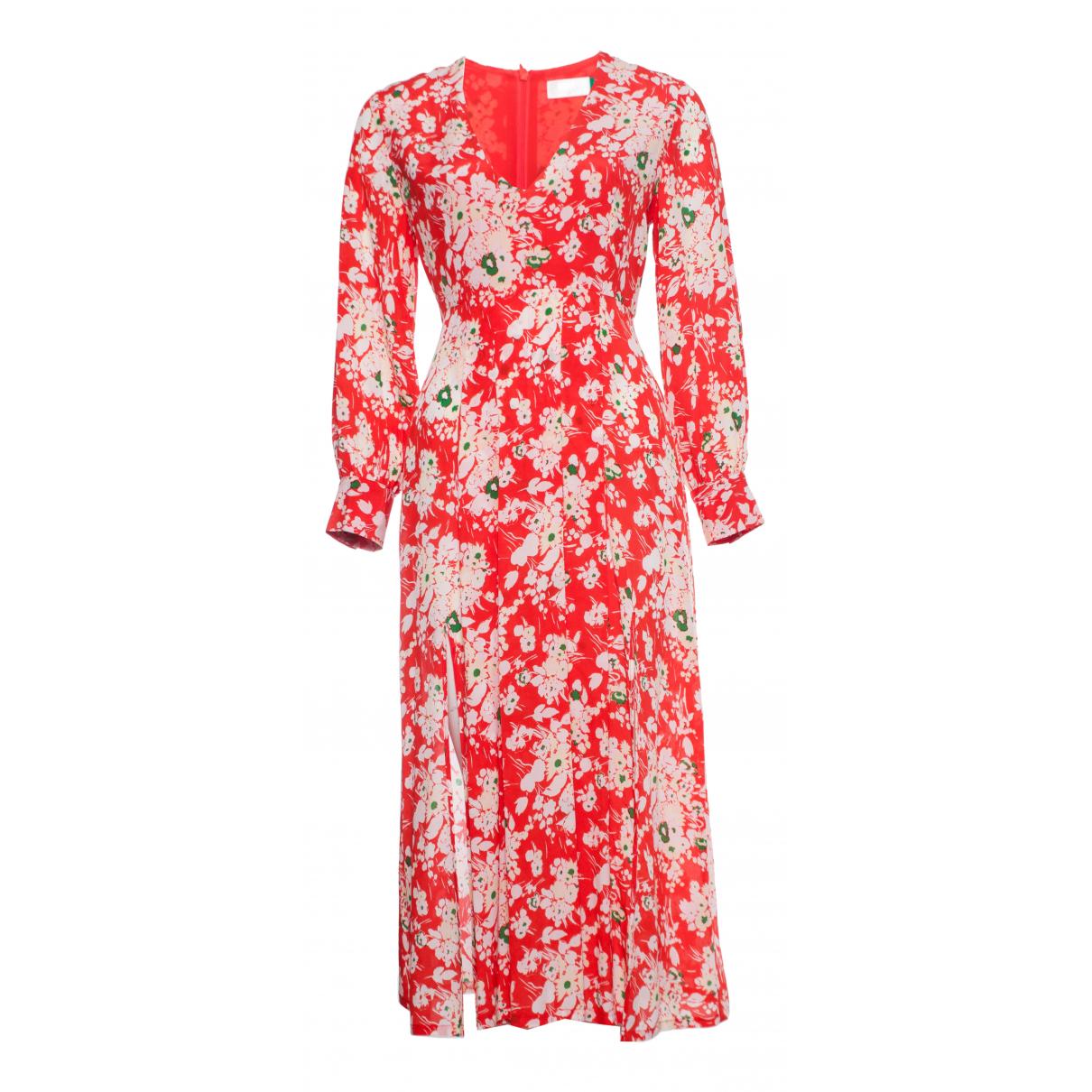 Rixo N Red Silk dress for Women S International