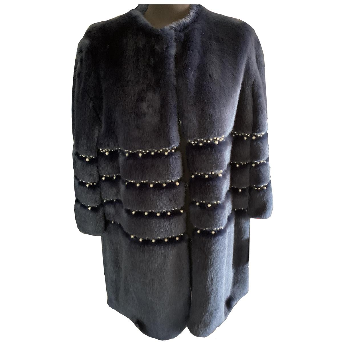 Ainea \N Blue Faux fur coat for Women 44 IT