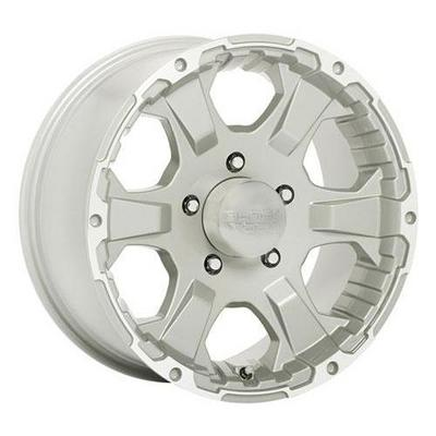 Black Rock 910 Intruder, 18x8.5 Wheel with 5 on 5.5 Bolt Pattern - Tungsten Silver with Machine Accents- 910S8855555
