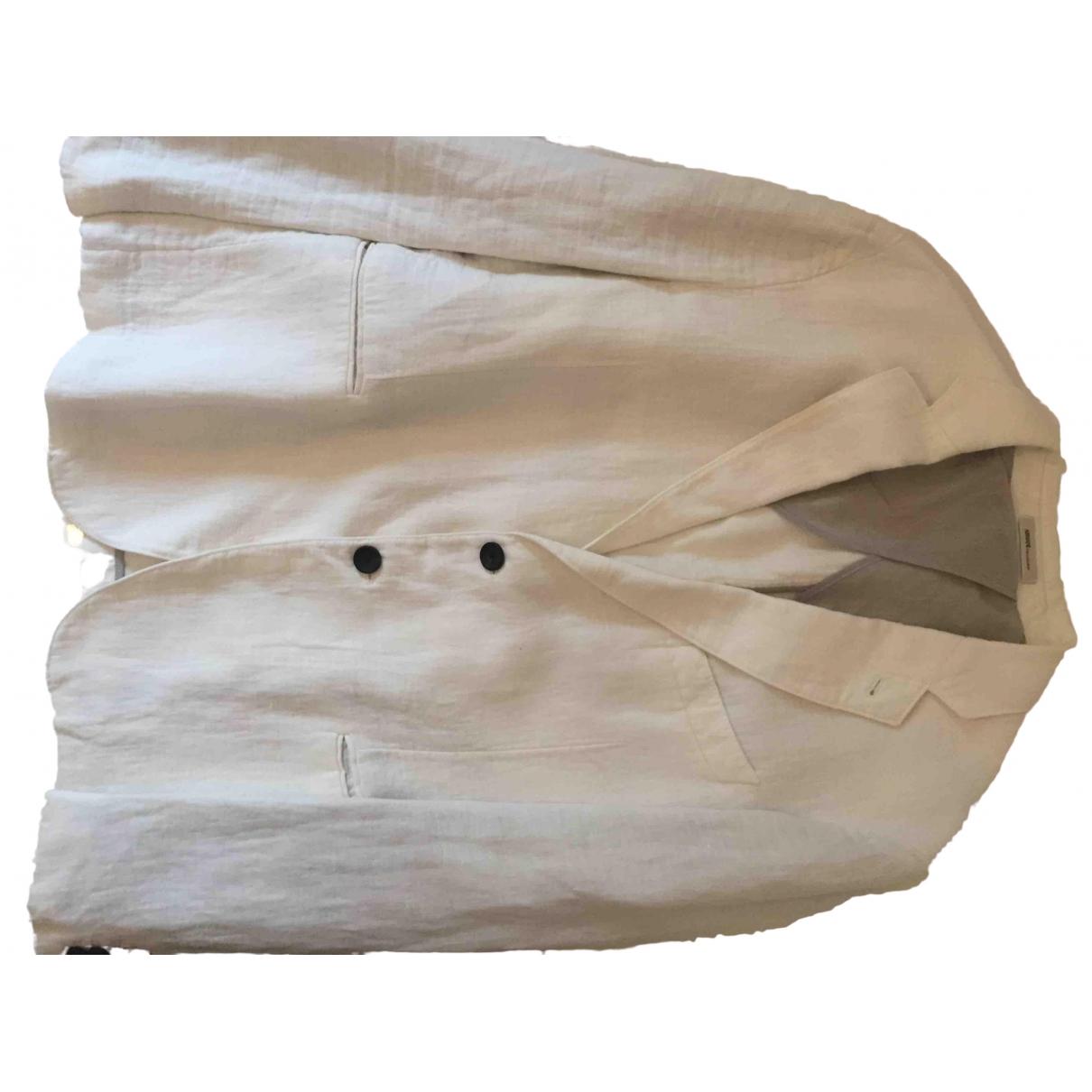 Armani Collezioni N White Linen jacket  for Men 50 IT