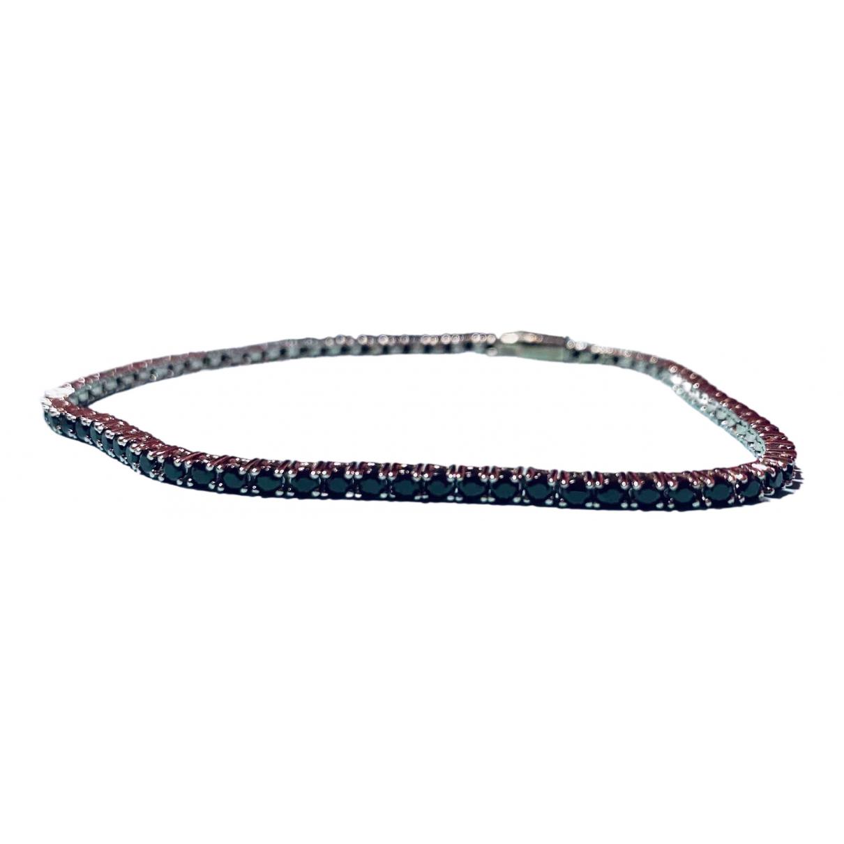 - Bracelet Tennis pour femme en argent - noir
