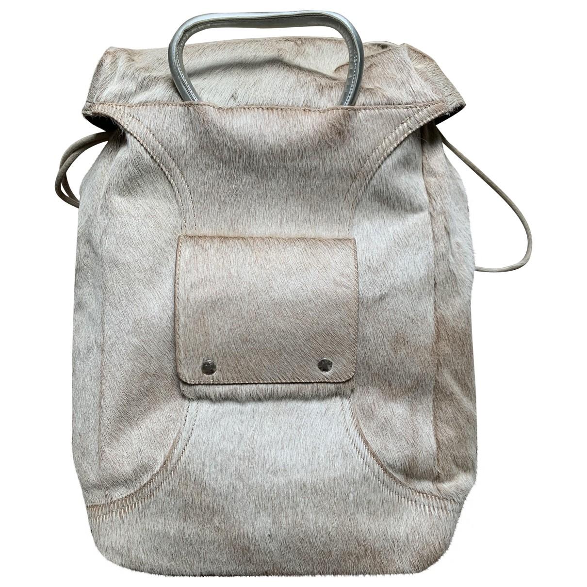 Maison Martin Margiela \N Beige Leather bag for Men \N