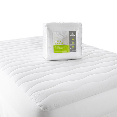 JCPenney Home Cotton Comfort Mattress Pad, One Size , White