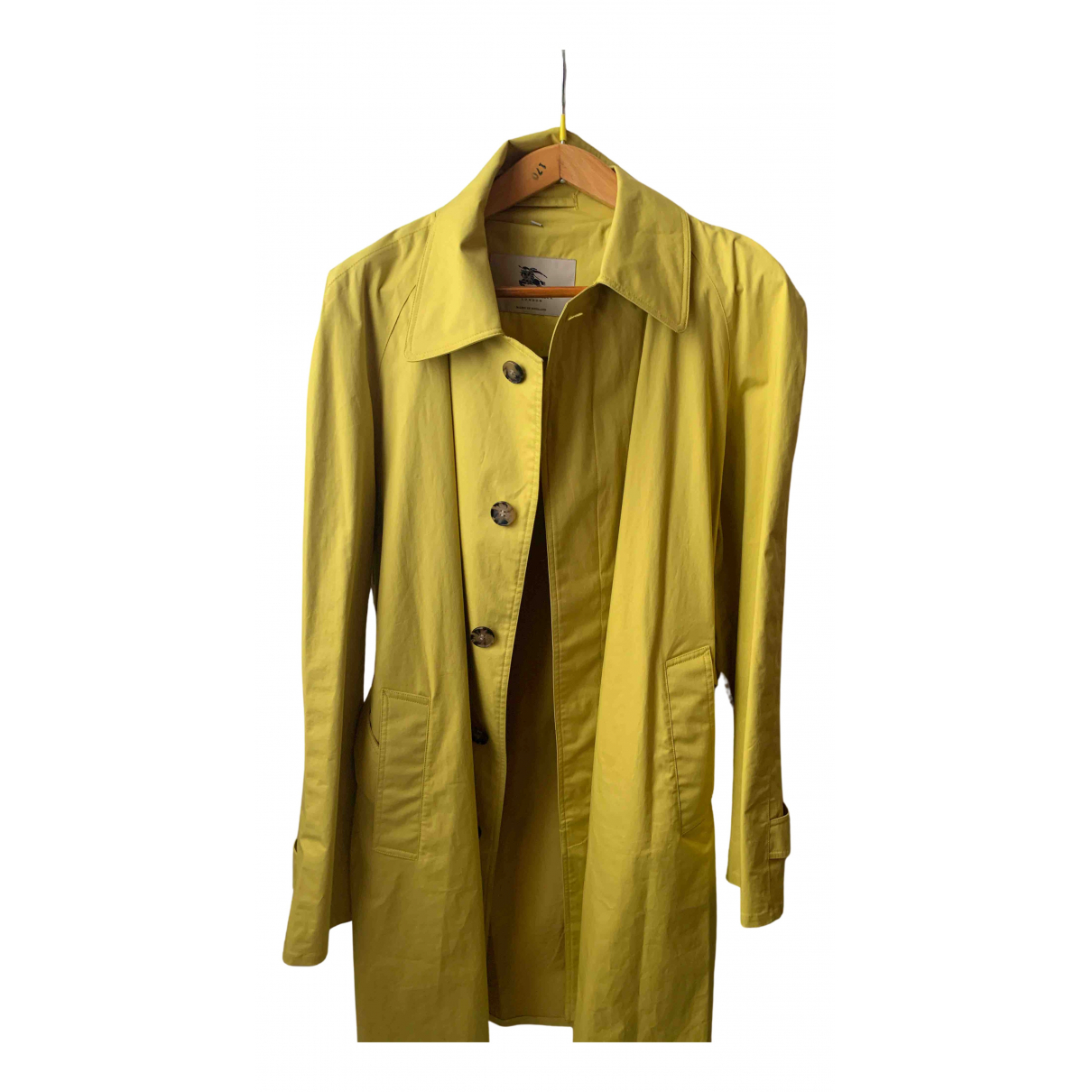 Burberry N Yellow Suede jacket  for Men 48 IT