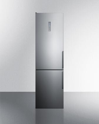 FFBF192SSBILHD 24 Bottom Freezer Refrigerator with 12.5 cu. ft. Capacity  Counter Depth  Frost Free Operation and Digital Thermostats in Stainless