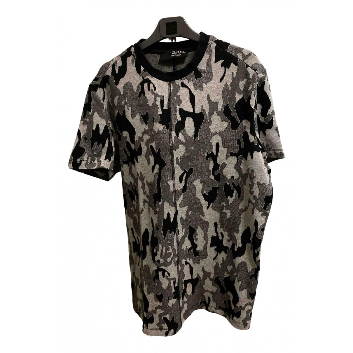 Tom Rebl - Tee shirts   pour homme en coton - gris