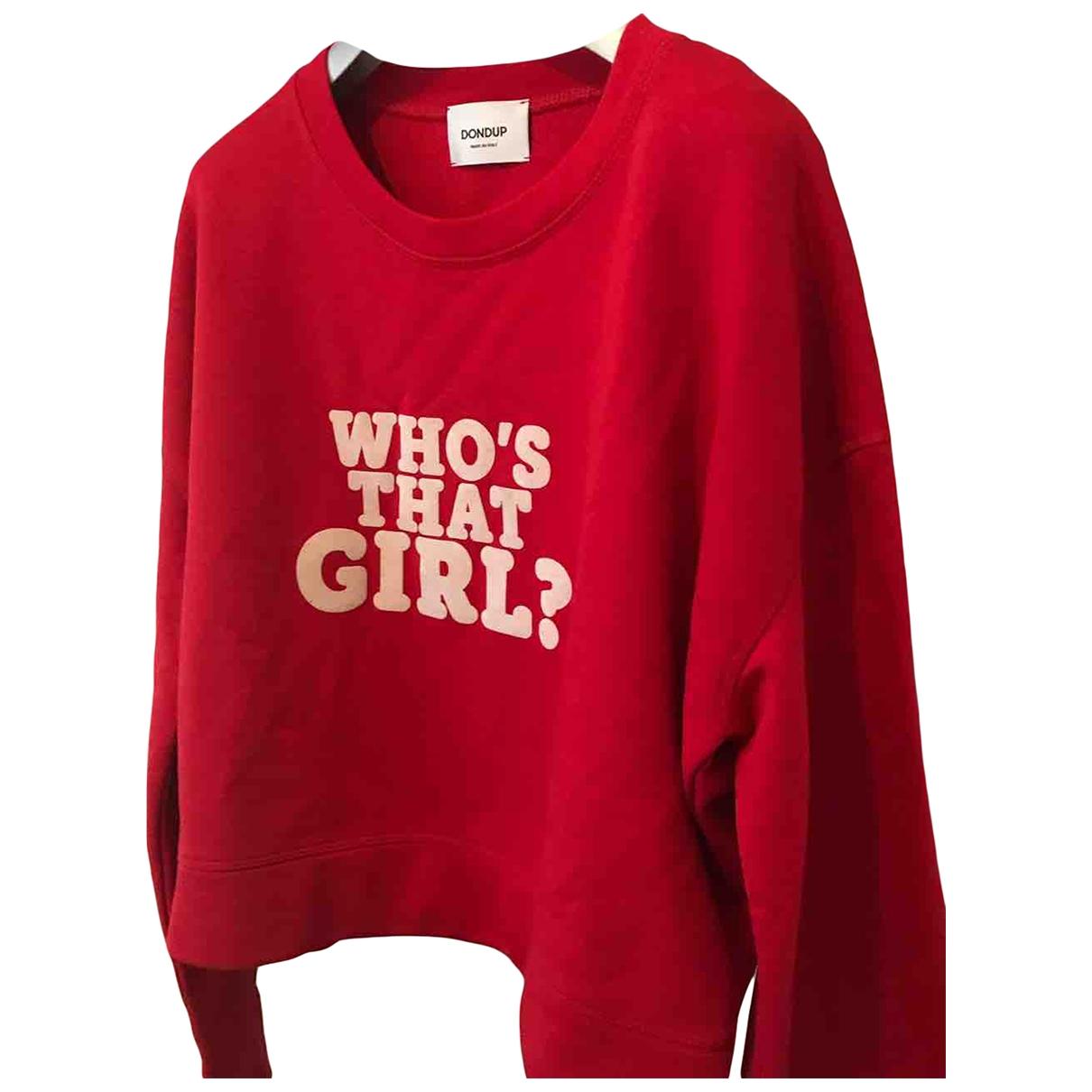 Dondup - Pull   pour femme en coton - rouge