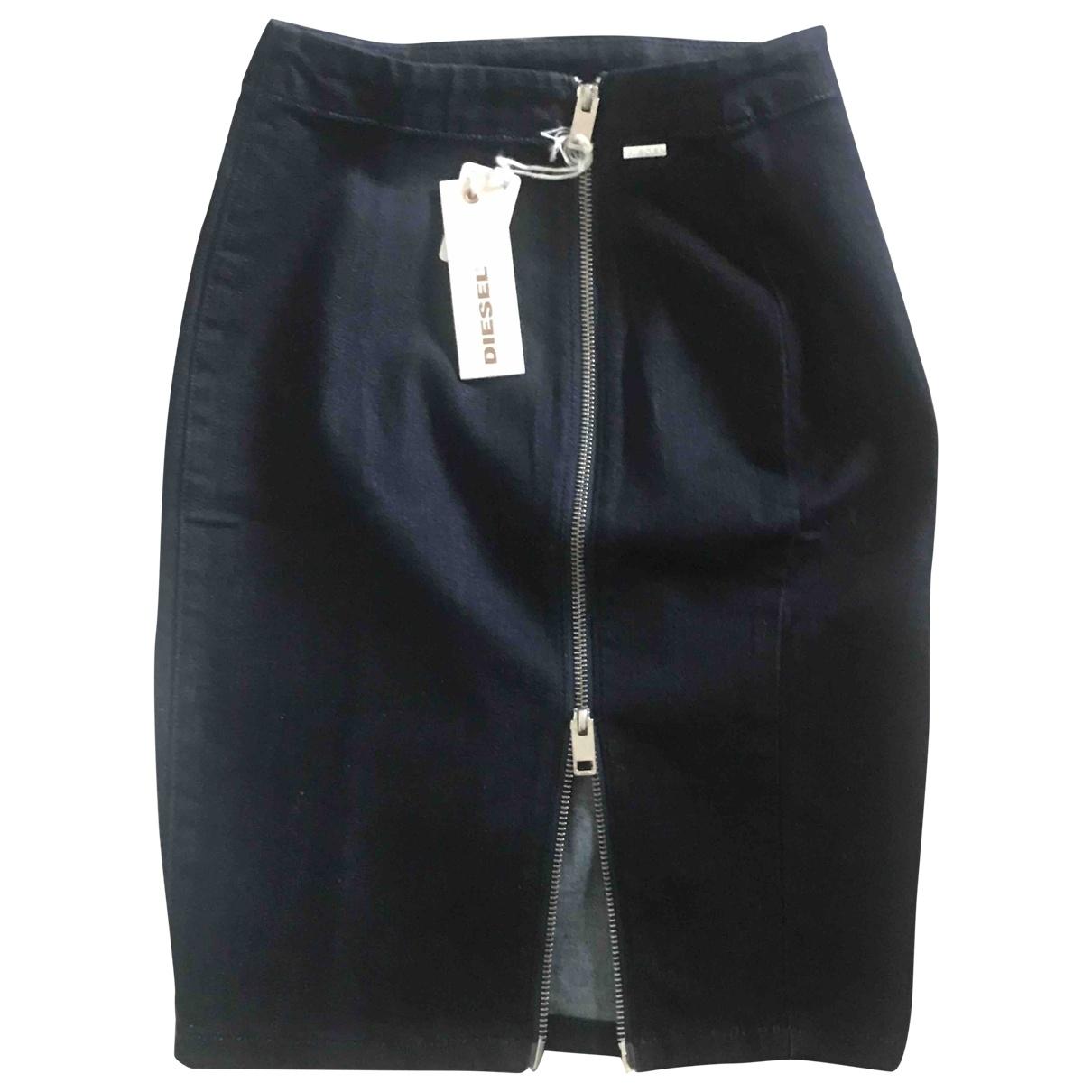 Diesel \N Blue Denim - Jeans skirt for Women XS International