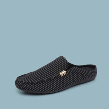 Guys Striped Graphic Loafer Mules