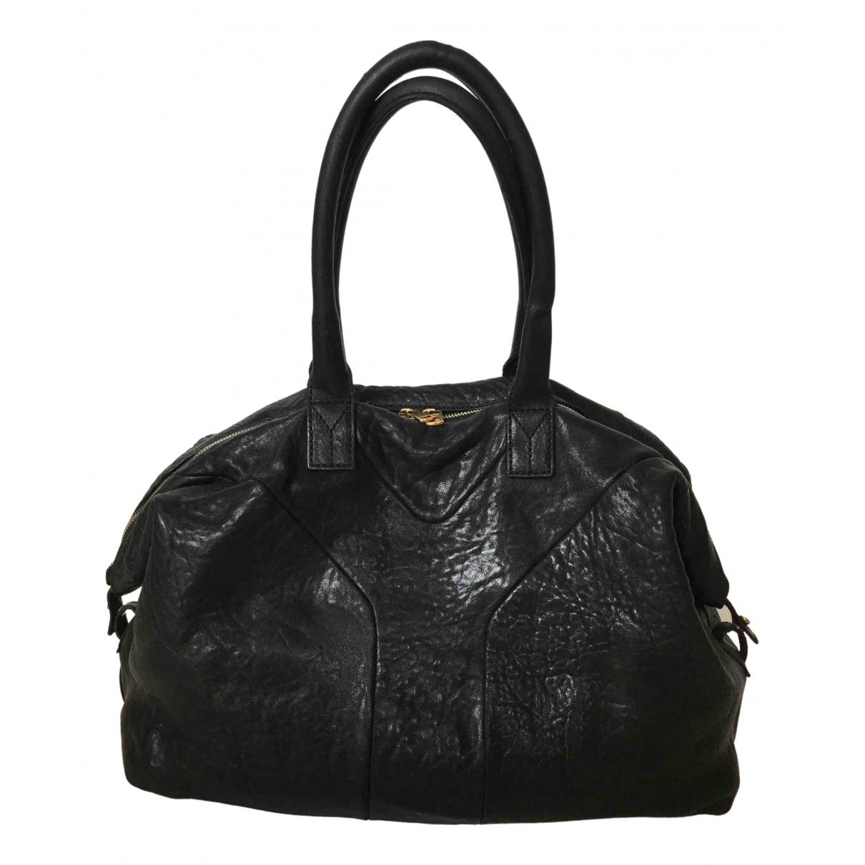 Yves Saint Laurent - Sac a main Easy pour femme en cuir - noir