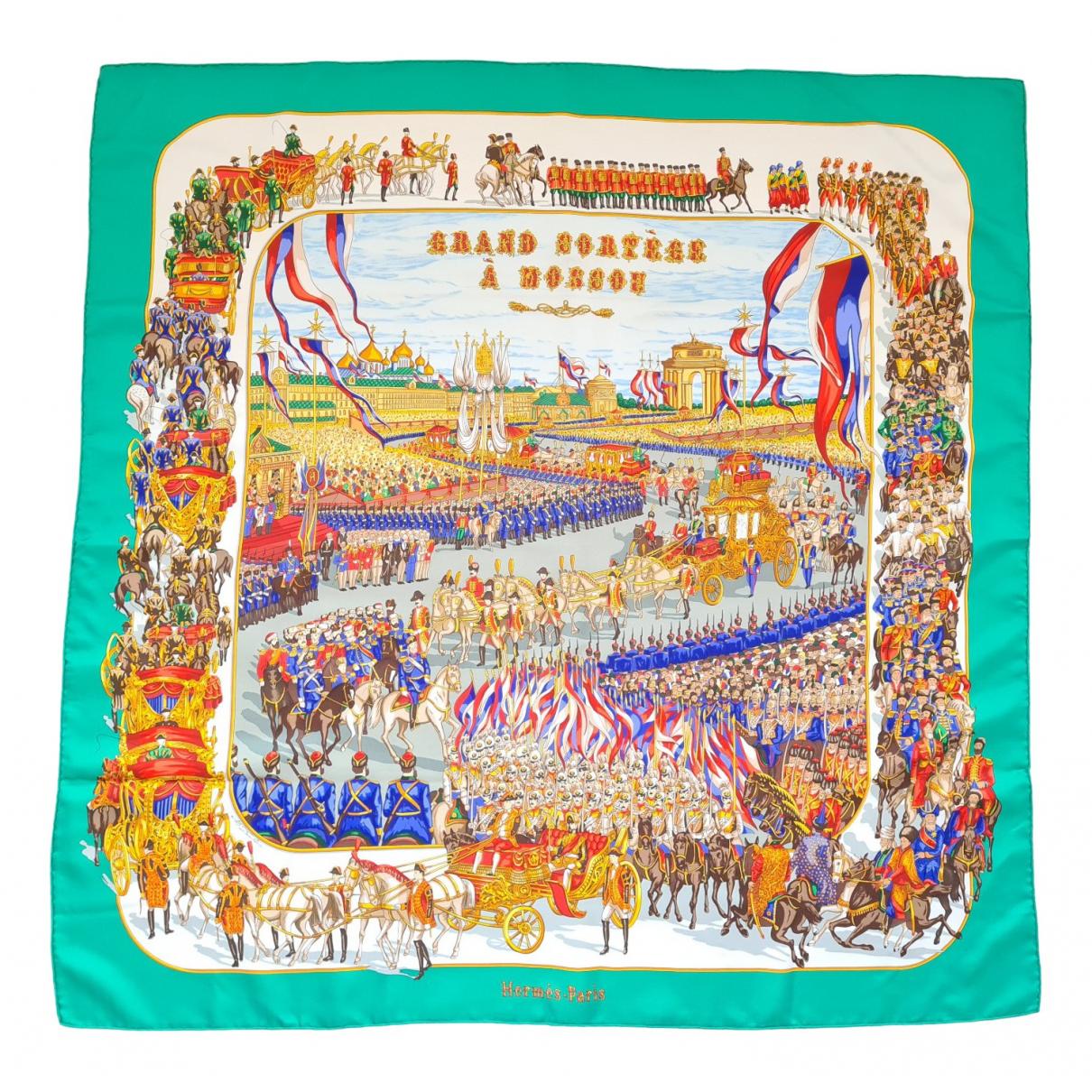 Hermes Carre Geant silk 140 Schal in  Gruen Seide