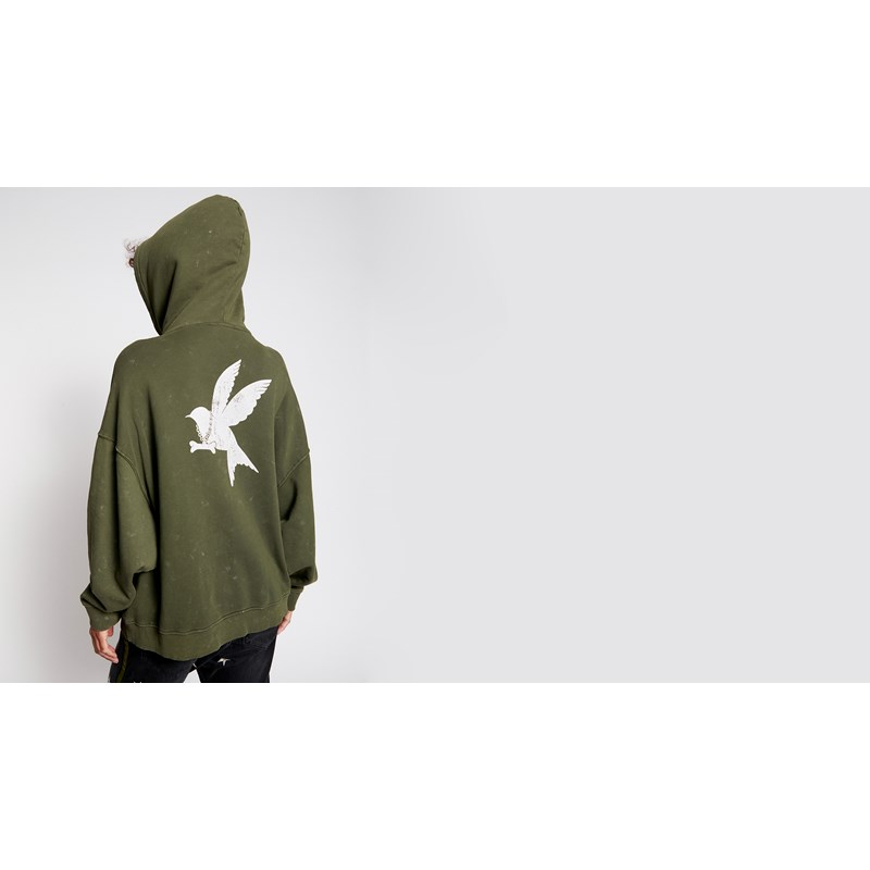 PAINTED BOWER BIRD BATWING HOODY