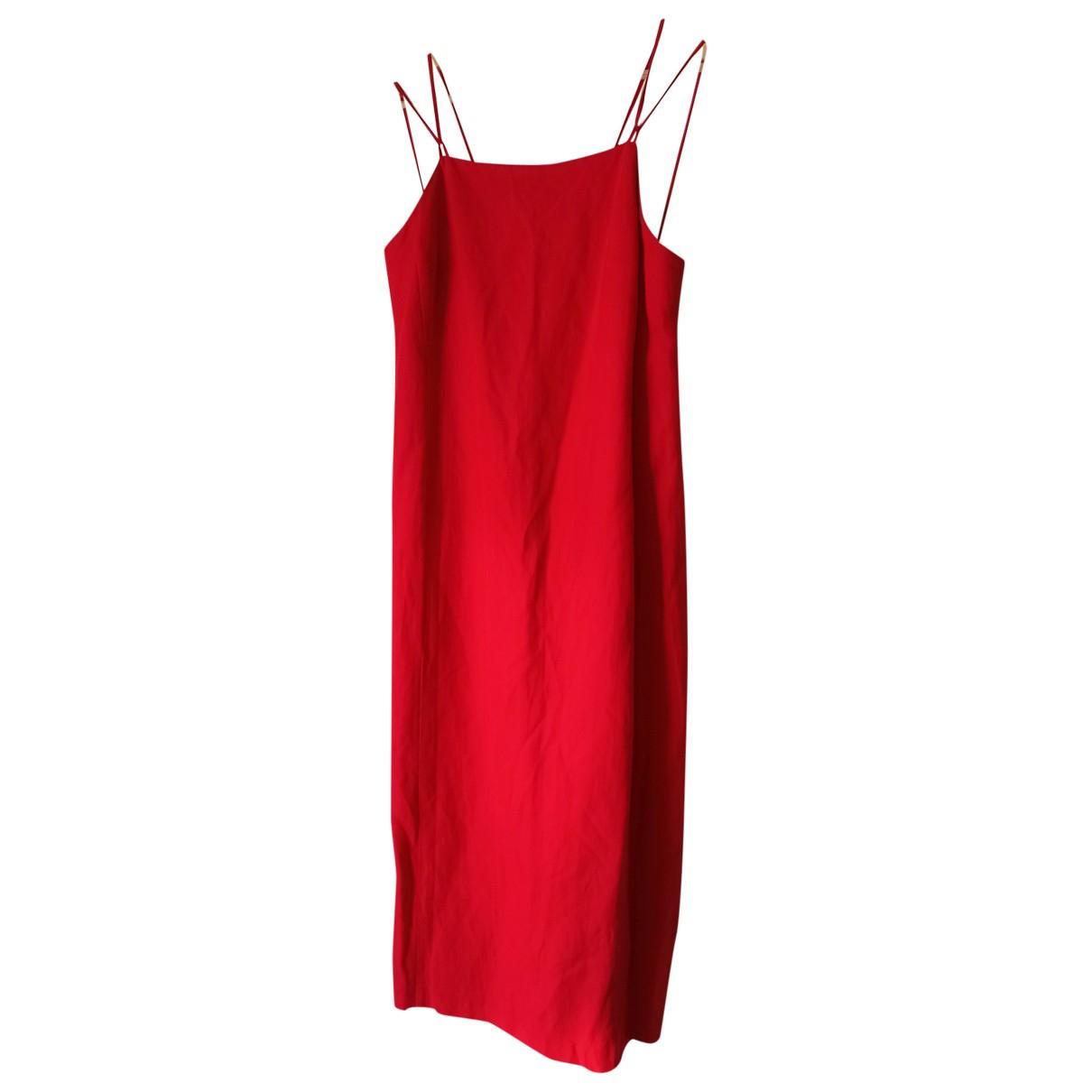 Burberry \N Kleid in  Rot Leinen