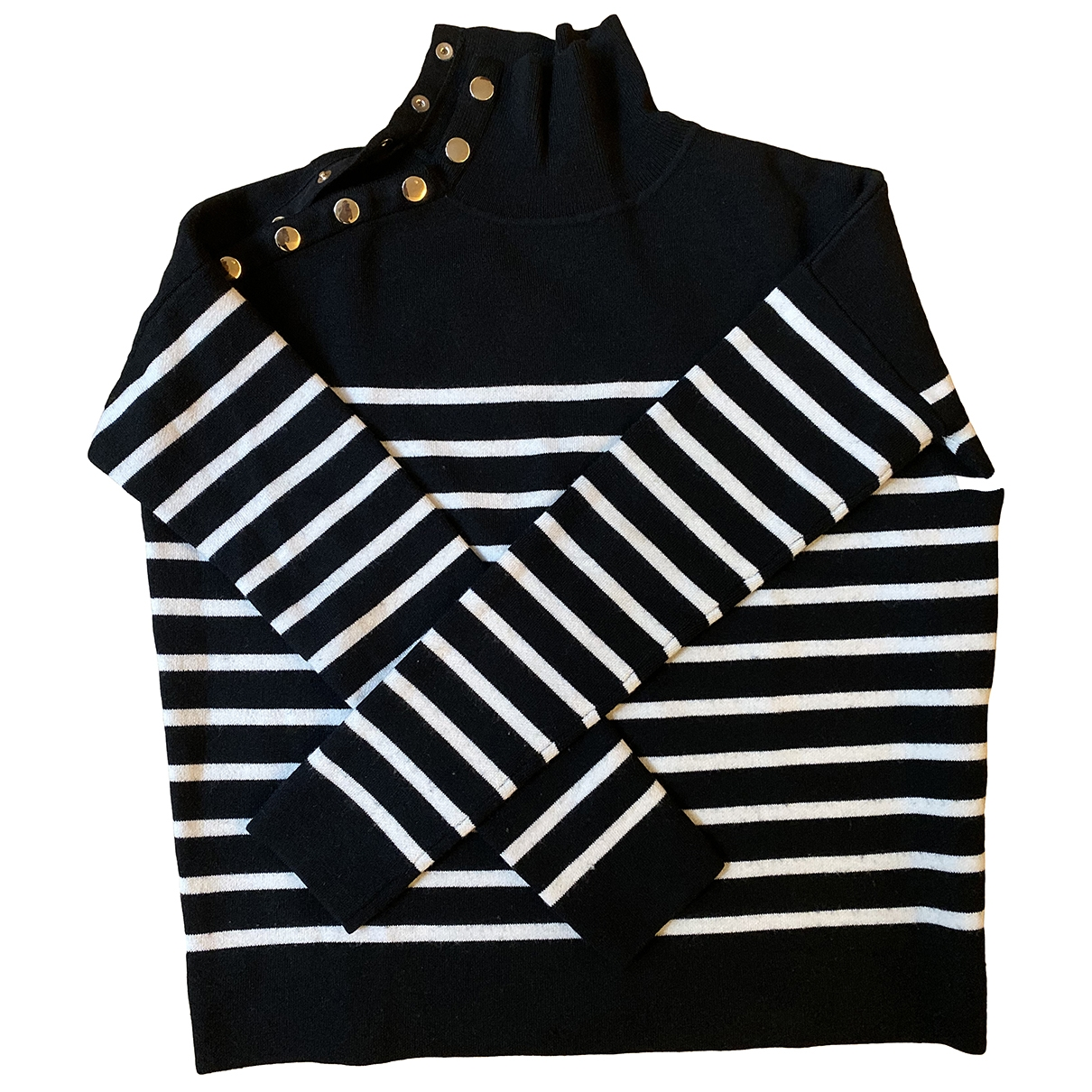 Sandro - Pull   pour femme en laine - noir