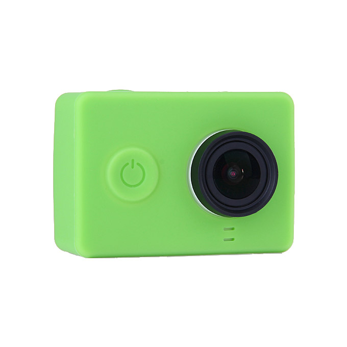 Silicone Protective Dirt-proof Soft Rubber Case Cover Skin for Xiaoyi Yi Xiaoyi Action Sport Camera - Green