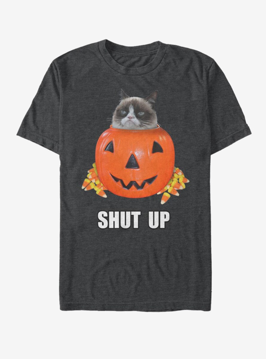 Grumpy Cat Candy Bucket T-Shirt