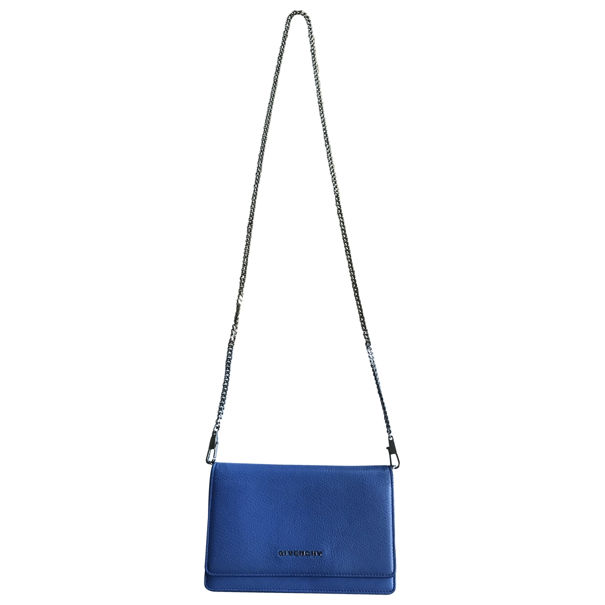 Givenchy Pandora Blue Leather handbag for Women \N