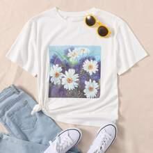Daisy Floral Print Tee