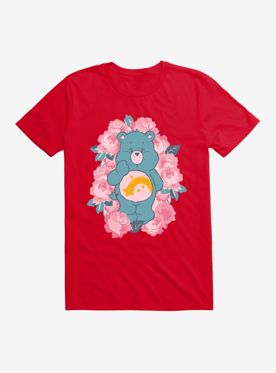 Care Bears Wish Bear Floral T-Shirt