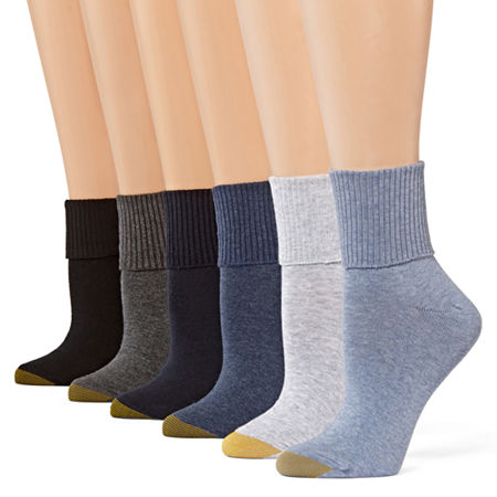 Gold Toe 6 Pair Turncuff Socks - Womens, 9-11 , No Color Family