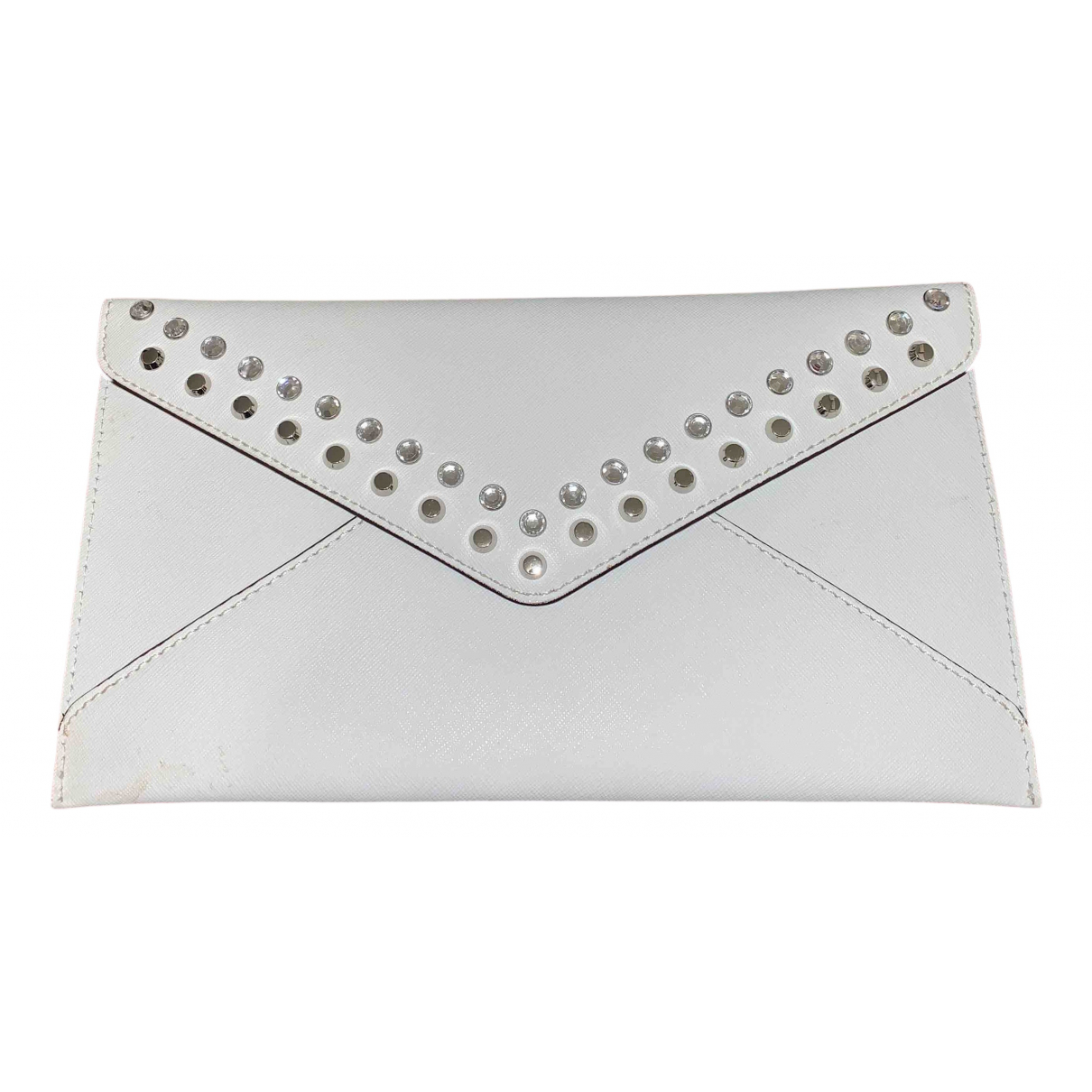 Michael Kors \N Clutch in  Weiss Leder