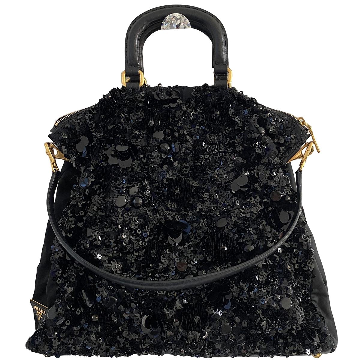 Prada \N Handtasche in  Schwarz Mit Pailletten