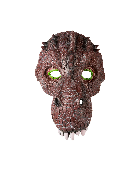Kostuemzubehor Latexmaske Dinosaurier Farbe: braun