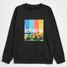 Guys Letter Graphic Sweatshirt