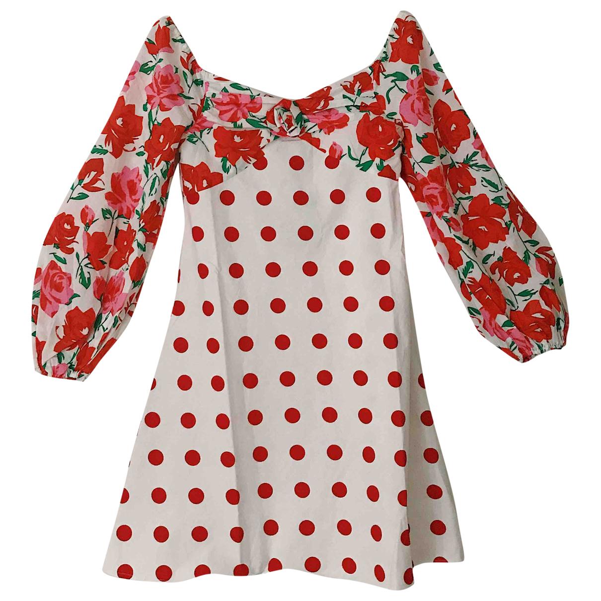 Rixo \N Kleid in  Weiss Baumwolle