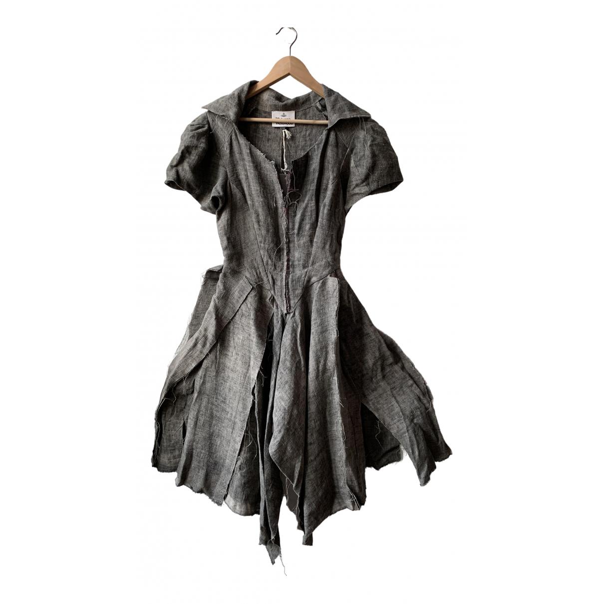 Vestido midi de Lino Vivienne Westwood