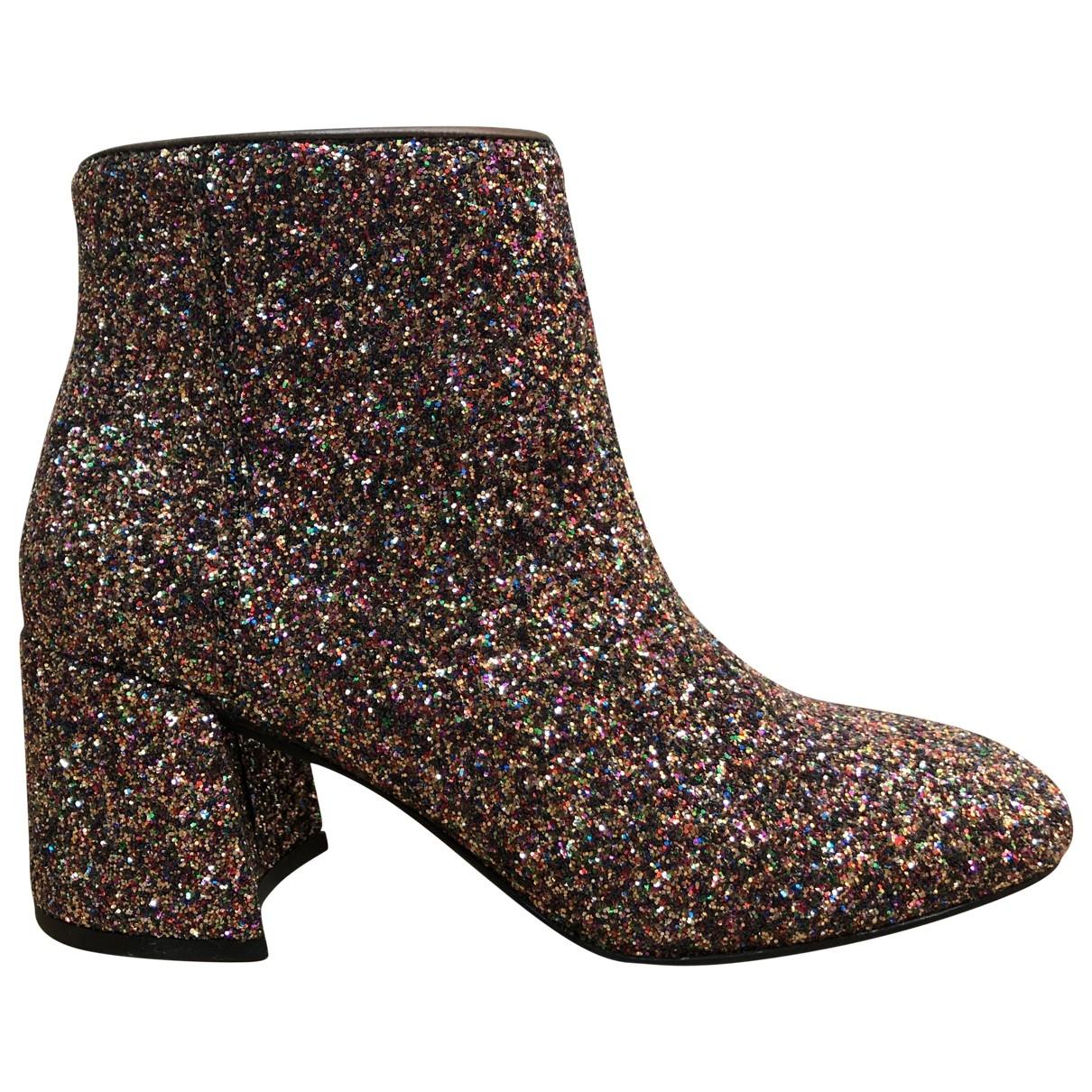 Non Signé / Unsigned \N Multicolour Glitter Ankle boots for Women 38 EU
