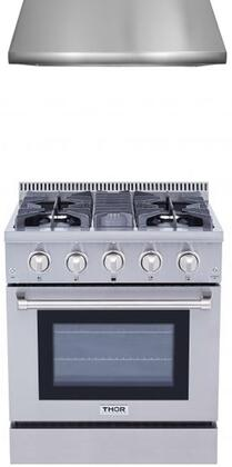 2-Piece Stainless Steel Kitchen Package with HRG3080U 30