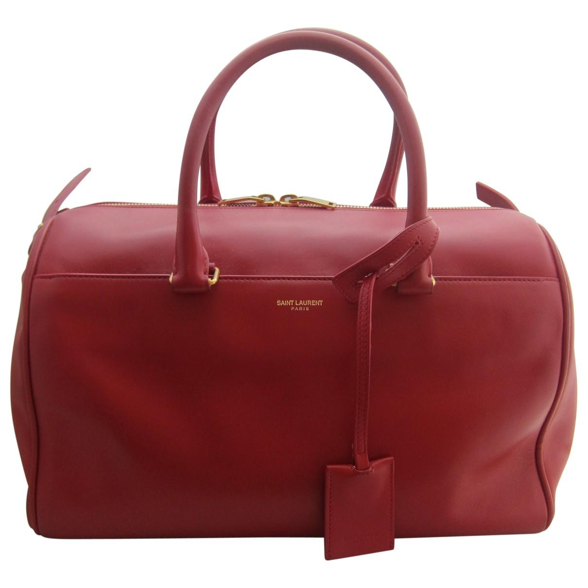 Saint Laurent Duffle Red Leather handbag for Women \N