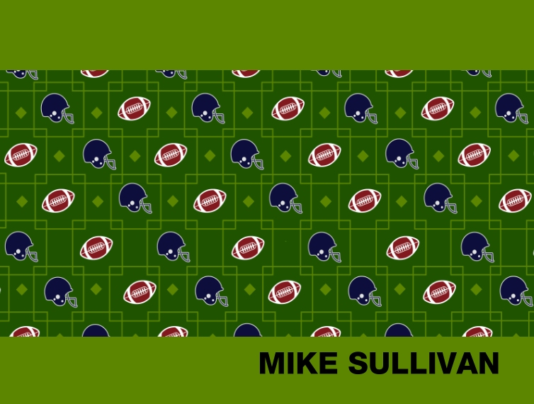 Everyday Fleece Baby Blanket, 30x40, Gift -Pattern Football Squares