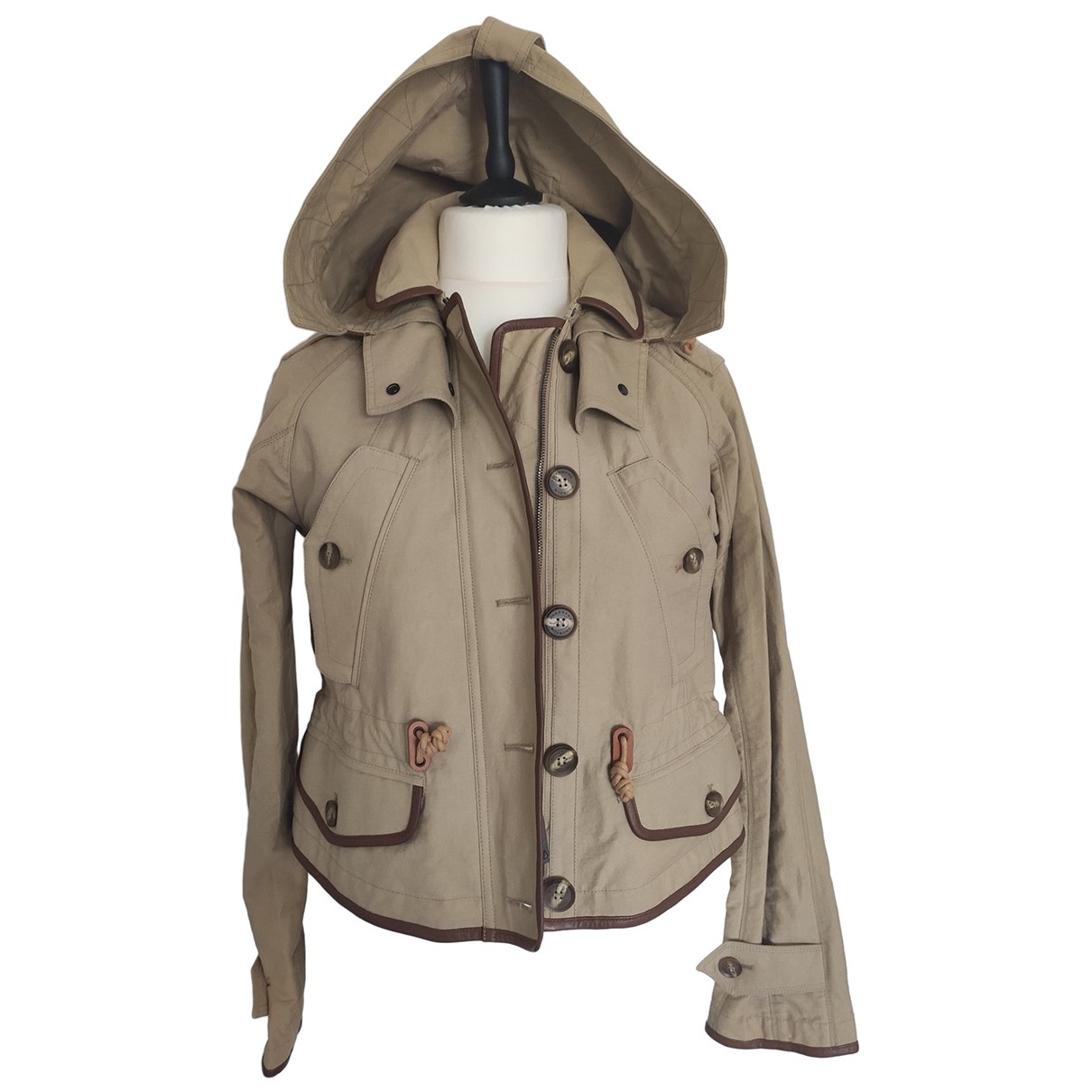 Burberry \N Beige Cotton jacket for Women 40 IT