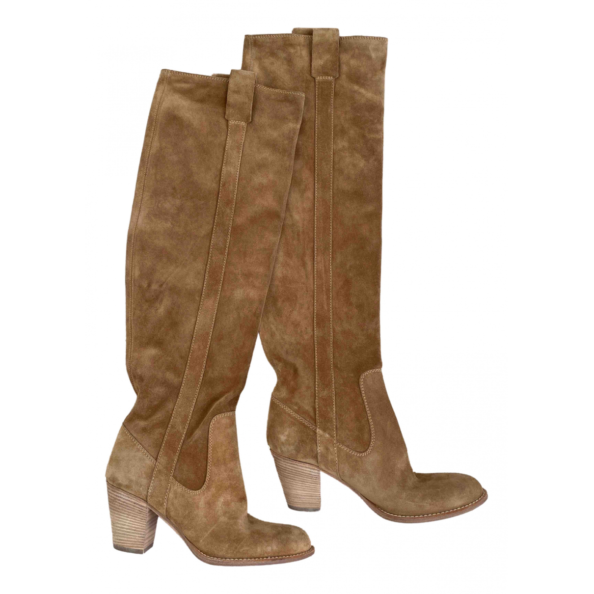 Dior \N Camel Suede Boots for Women 36 EU