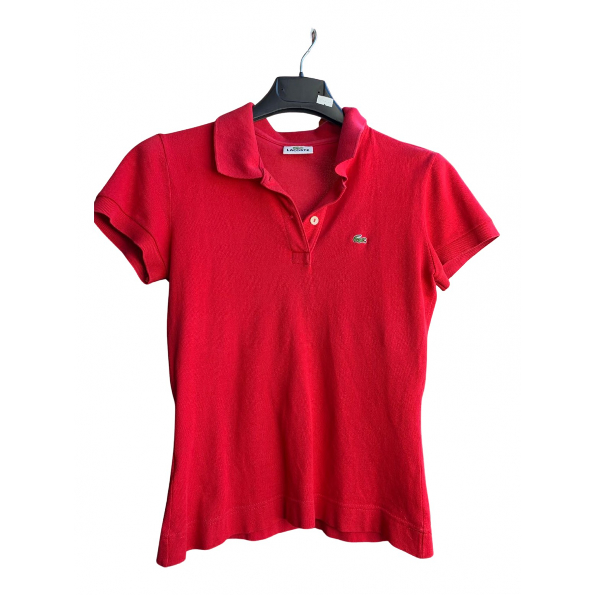 Lacoste N Red Cotton  top for Women 38 IT