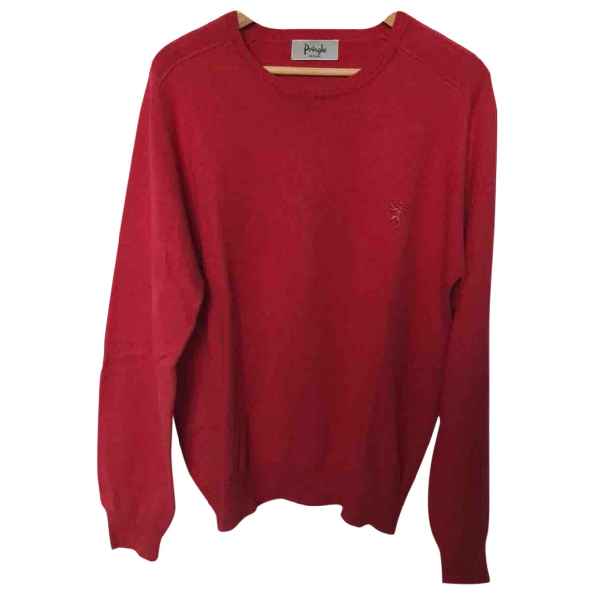 Pringle Of Scotland \N Pullover.Westen.Sweatshirts  in  Rot Baumwolle