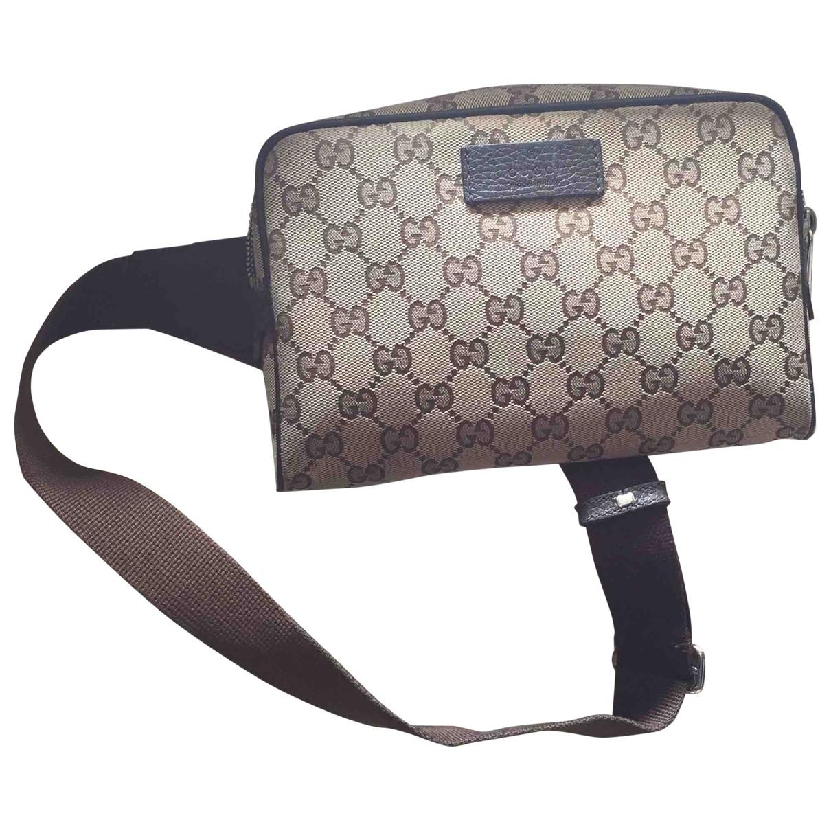 Gucci \N Beige Cotton bag for Men \N