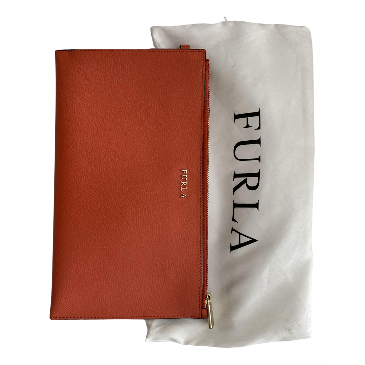 Furla \N Clutch in  Orange Leder