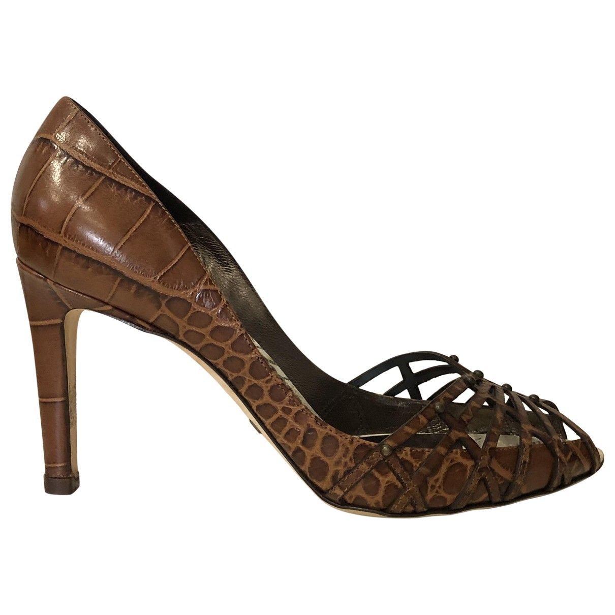 Giorgio Armani \N Brown Leather Heels for Women 38 EU