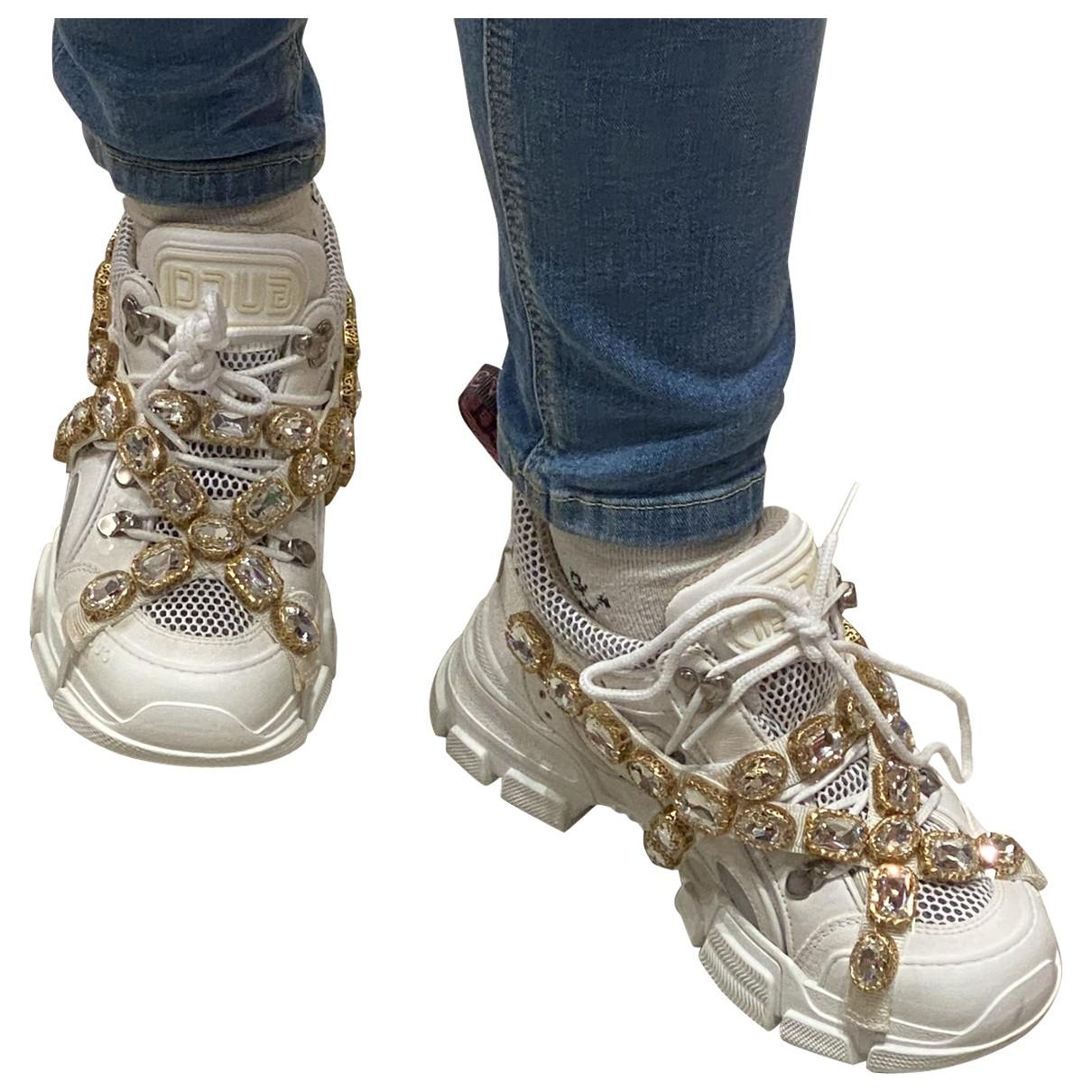 Gucci - Baskets Flashtrek pour femme en cuir - blanc
